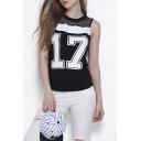 Summer Fashion Round Neck Sleeveless Graphic Tank Top
