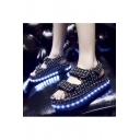 Popular LED Shoes Luminous Flat Shoes Sandals