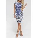 Ladies Patterned Stretch Slim Stretchy Bodycon Cocktail Party Dress