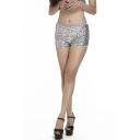 Women's Sequin Tap Shorts