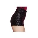 Women's Mini Shiny Sequin Shorts Dance Hot Pants