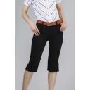 Chic Women Plain Short Pants