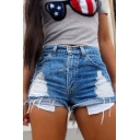 Women Fashion Sexy Holes Mini Jean Shorts