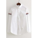 Women's Collared Button Front Long Sleeve Shirt