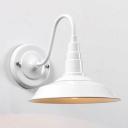 Stylish White 1 Light Industrial Gooseneck Down Light LED Wall Sconce