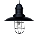12'' Wide Black Finish Saucer Shade LED Hanging Pendant Light