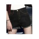 Vintage Comfy Women's Plus 5 pockets Denim Shorts