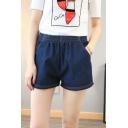 Women Casual Lightweight Denim Short with Pockets