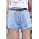 Women Retro Girl Mid Waisted Oversize Crimping Boyfriend Jeans Shorts Pant