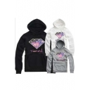 Unisex Fashion Galaxy Diamond  Print Hoodie for Lovers