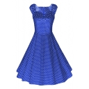 Women's 1950s Style Vintage Swing Party Dress