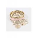 Elegant Shining Bohemian Styls Pearl Alloy Chic Lady's Bracelets