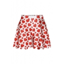 Women's Summer New Fashion Casual Printed Elastic Waist Plus Shorts