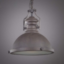 Single Retro Style Small Pendant Lighting in Bowl Shape