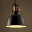 Graceful Black 8'' Wide Mini Indoor LED Pendant Light
