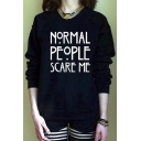 Women's Celebrity Style Go love Your Self Print Sweatshirt Top
