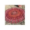 Fashion Round Bohemian Print Beach Towel Panic Mat Cushion Shawl Decoration Tapestry Rug