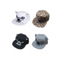New Cartoon Cat with Blue Eyes and Pointed Ears Baseball Cap/Unisex Hip-hop Hat