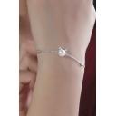 Sweet Pearl Cat Ears S925 Silver Bracelet
