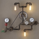 Antique Bronze Three Light Pipe LED Wall Light with Bicycle Shape