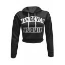 Women's Ladies HANGOVER HOODIE Print Hoodie Crop Top