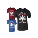 Unisex Round Neck Pokemon Snap Print Short Sleeve T-shirt