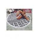 Fashion Geo Print Beach Towel Panic Mat Cushion Shawl 160*160