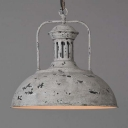 Mottled Grey Finished 1 Light Down Lighting Bowl Shape LED Pendant Lamp