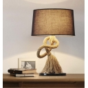 Gracefully Designed Single Light Rope LED Table Lamp with Empire Fabric Shade