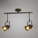 Industrial Style Double Head LED Close to Ceiling Spotlight in Antique Bronze
