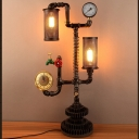 33'' H Large Pipe LED Table Lamp with Cylinder Metal Shade
