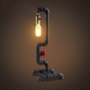 Large Pipe LED Table Lamp 20'' H in Old Iron