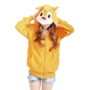 Women's Cute Cartoon Hoodie Outerwear Jacket Sweatshirt