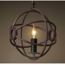 Antique Copper Ten Inches Wide Single Light LED Mini Globe Pendant