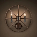 20'' Wide Three Light Large Semi-Circle Hallway LED Wall Light in Vintage Style