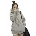 Women Winter Full Zip Hoodie Varsity Hoodie Hooded Coat
