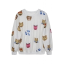 Women's 3D Emoji Printed Sweatshirt Good Quality
