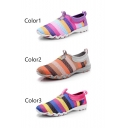 New Arrival Women's Fashion Rainbow Color Sneaker