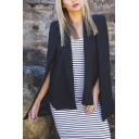 Vintage Shawl Collar Split Sleeve Cloak Blazer Cape 2016 Women's Autumn Solid Color OL Suit Jacket