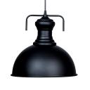 1 Light Bowl Shaped Industrial LED Pendant Light