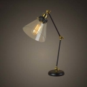 Adorable Single Light LED Table Lamp with Glass Shade in Industrial Style