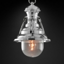 11'' Wide Industrial 1 Light LED Mini Pendant in Chrome/Gold