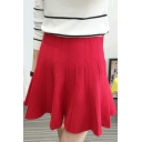 New Fashion High Waist Cable Knit A-line Skirt