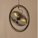 Vintage Bronze 3 Light Hanging Foyer LED Pendant Light 20'' Wide