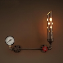 Stylish Single Light 20'' Wide Pipe LED Wall Light with Metal Shade