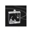 New Fashion Cute Cat Playing Ball Pendant Necklace