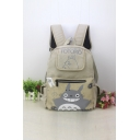 Unisex Fashion Cartoon Totoro Print Backpack