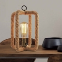 11'' H Rope LED Table Lamp for Kids in Double Rectangle Design