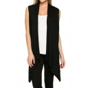 Women's Casual Open Front Vest Long Tunic Shawl Collar Draped Cardigan Tops