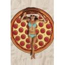 Popular Pizza Print Beach Towel Blanket Picnic Mat Cushion Shawl